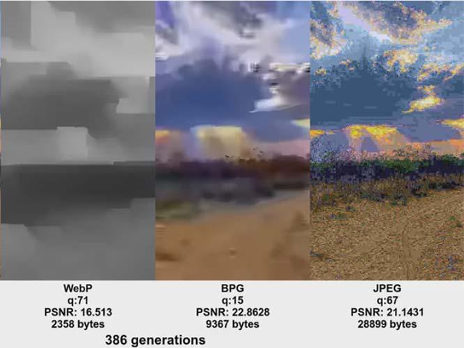 Δείτε τι γίνεται όταν ανοίγετε και σώνετε το ίδιο JPEG αρχείο 500 φορές