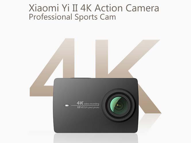 Xiaomi Yi II, νέα έκδοση με δυνατότητα λήψη 4K video