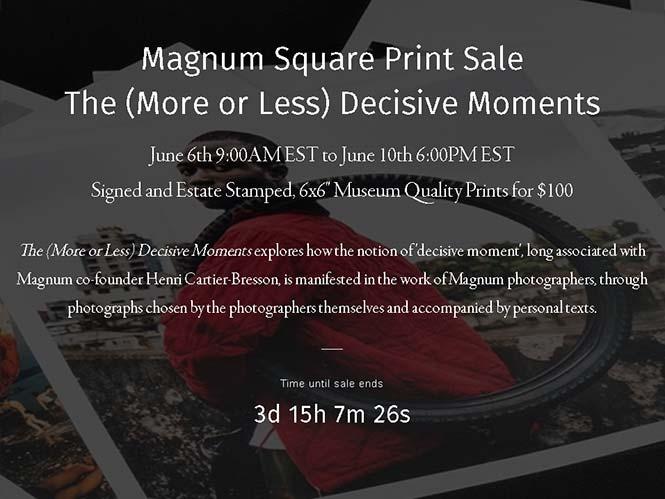 Το Magnum πουλάει υπογεγραμμένες εκτυπώσεις των φωτογράφων του