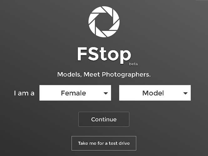 FStop: Ειδική υπηρεσία για φωτογράφους και μοντέλα