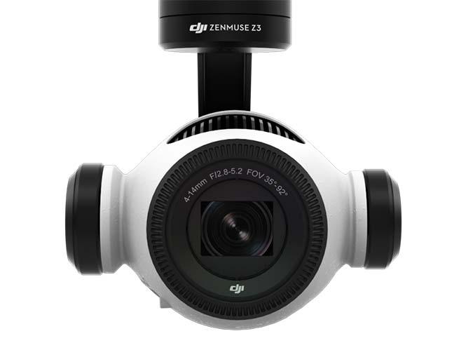 Η DJI παρουσιάζει τη Zenmuse Z3, τη πρώτη κάμερα για drone με ενσωματωμένο zoom
