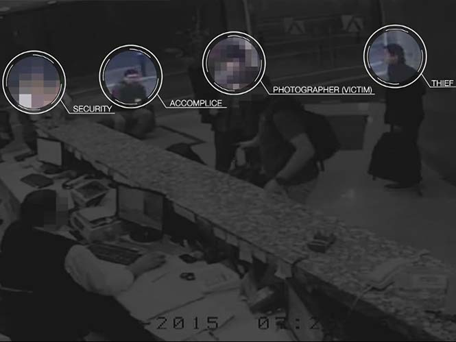 Βίντεο δείχνει την κλοπή εξοπλισμού μπροστά από τα μάτια των φωτογράφων