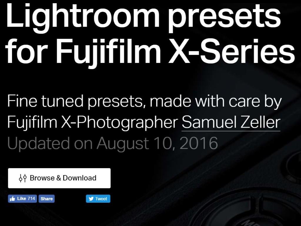 ΔΩΡΕΑΝ Lightroom Presets για χρήστες Fujifilm μηχανών