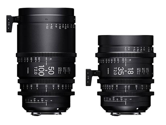 Η SIGMA ανακοίνωσε τις τιμές των cine φακών 18-35mm T2 και 50-100mm T2