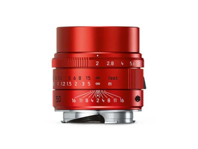 Ειδική έκδοση του Leica APO-SUMMICRON-M 50mm f/2 ASPH σε κόκκινο χρώμα