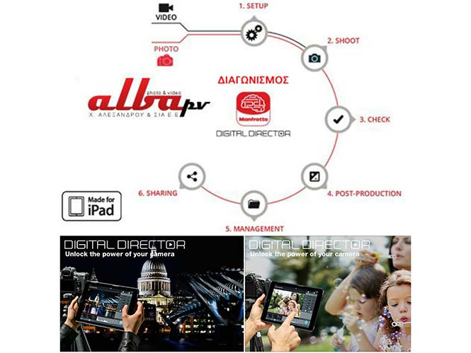 Κλήρωση από την Αλεξάνδρου και Σια Ε.Ε., κερδίστε το Manfrotto Digital Director