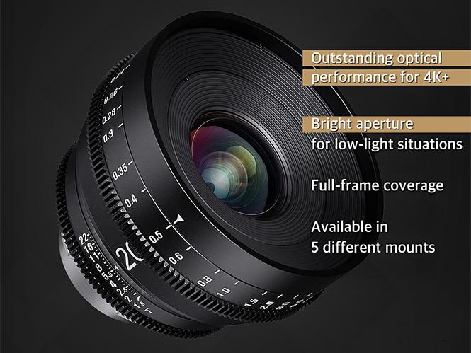 Νέος κινηματογραφικός φακός Samyang XEEN 20mm T1.9