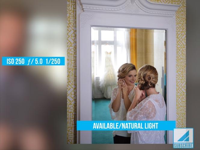 Δημιουργικός φωτισμός για την φωτογράφιση νύφης και γαμπρού