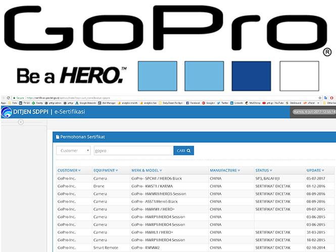 Η GoPro Hero6 θα ανακοινωθεί το επόμενο χρονικό διάστημα