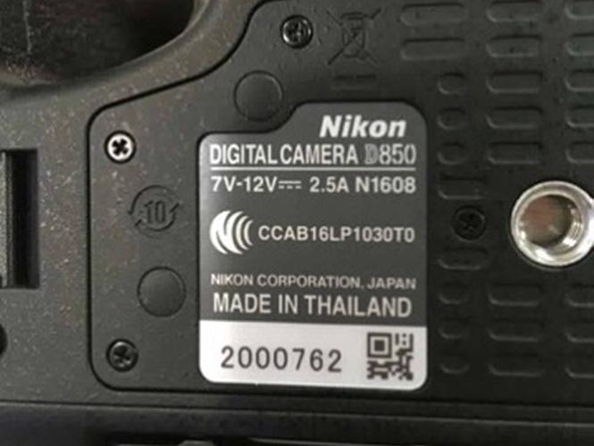 Η Nikon D850 έχει αισθητήρα της Nikon και φτιάχνεται στην Ταϊλάνδη