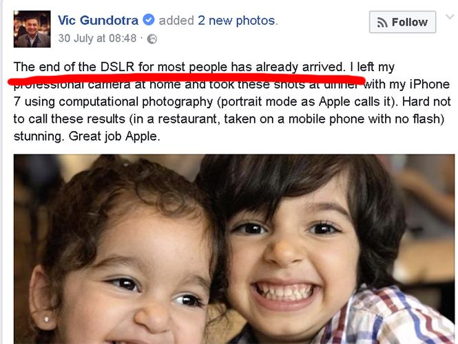 Πρώην αντιπρόεδρος της Google υμνεί το iPhone, λέει ότι το τέλος των DSLR έφτασε