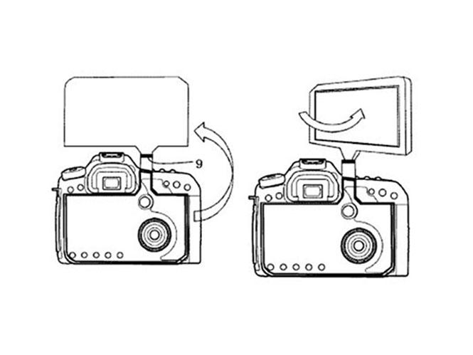 Πατέντα της Canon δείχνει την οθόνη DSLR μηχανής να βγαίνει πάνω από το σώμα και να περιστρέφεται