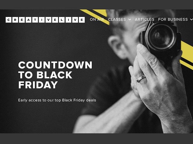 Creative Live: 50% έκπτωση σε online μαθήματα για τη φωτογραφία (Black Friday)