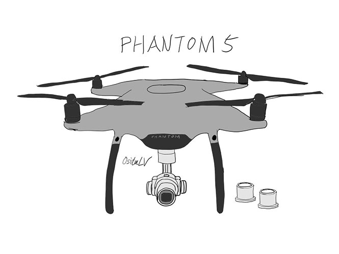 Το DJI Phantom 5 θα έχει κάμερα που θα αλλάζει φακούς;