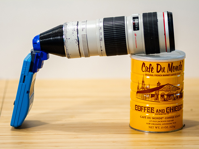 Συνδυάζοντας την Game Boy Camera με ένα Canon 70-200mm f4
