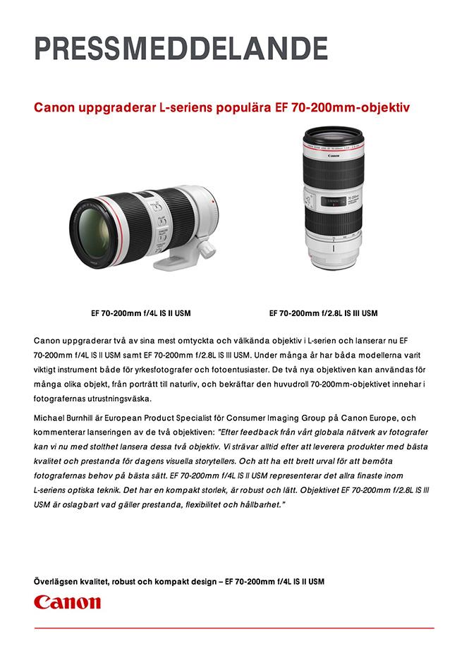 Αυτά είναι τα νέα στοιχεία που διέρρευσαν για τους δύο 70-200mm της Canon