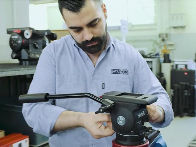 Μία video-βόλτα στο εργοστάσιο που φτιάχνει τα τριπόδια της Cartoni