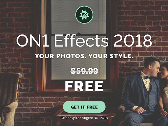 Απέκτησε ΔΩΡΕΑΝ το ON1 Photo Effects 2018 (αξίας 75 δολαρίων)