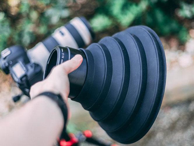 To Ultimate Lens Hood επιτρέπει την λήψη μέσα από γυαλί χωρίς την παρουσία αντανακλάσεων