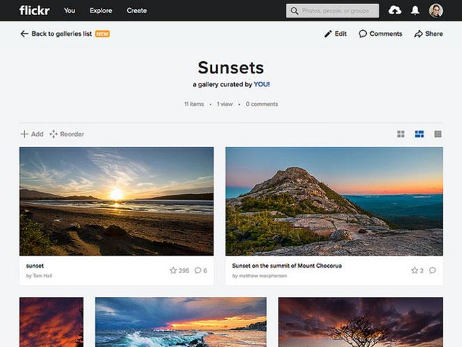 Το Flickr προχώρησε σε μεγάλη αναβάθμιση στις Galleries του
