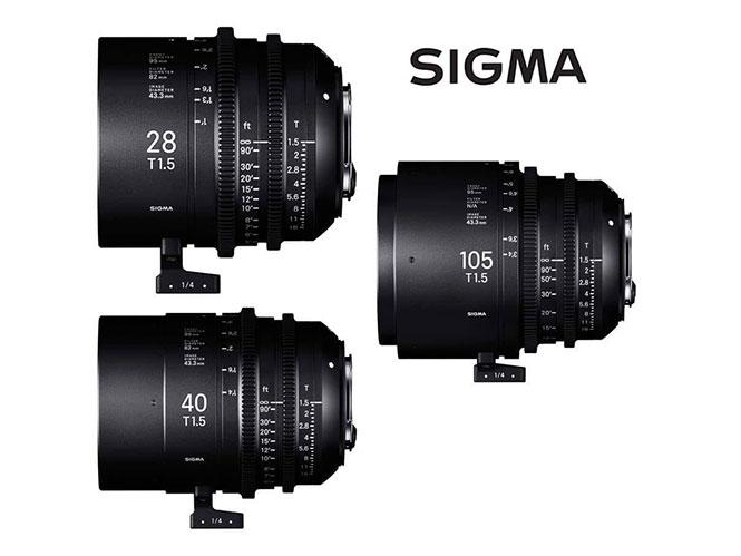 Τρεις νέοι κινηματογραφικοί φακοί από τη SIGMA στη σειρά FF High Speed Prime Line