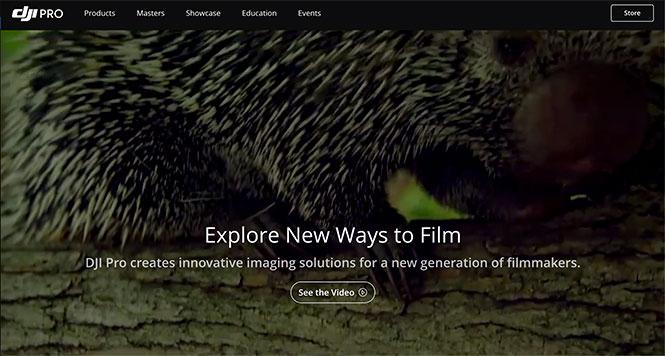 Η DJI λανσάρει ένα νέο site για επαγγελματίες κινηματογραφιστές