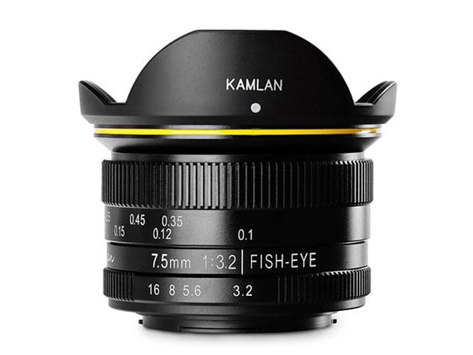 O Kamlan 7.5mm f/3.2 είναι ένας νέος Fisheye φάκος για Micro Four Thirds μηχανές