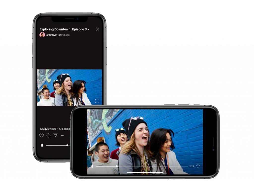 Το Instagram πρόσθεσε υποστήριξη βίντεο οριζόντιου προσανατολισμού στο IGTV