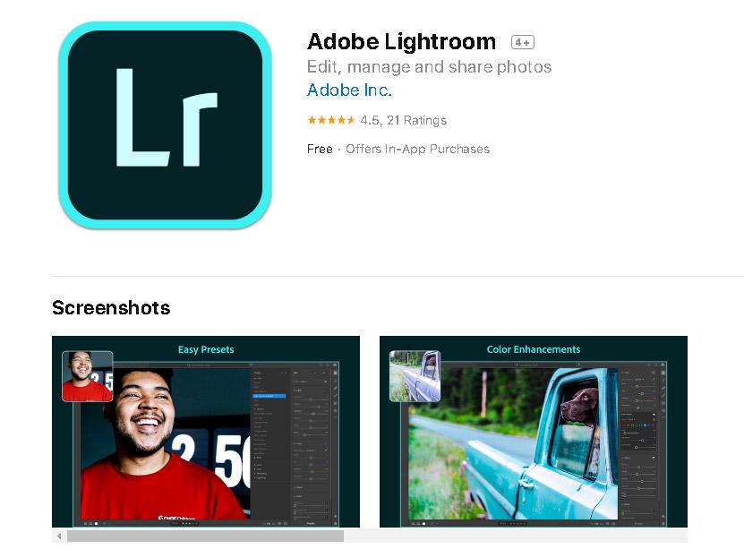 Το Adobe Lightroom είναι διαθέσιμο στο App Store για Mac