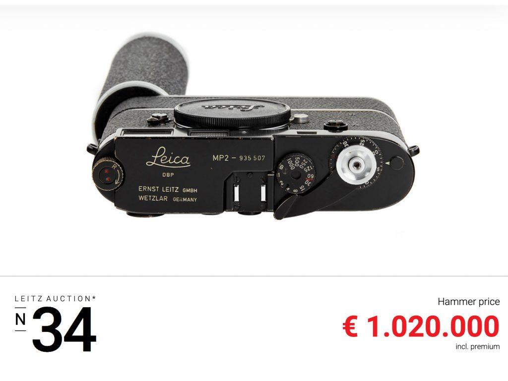 34η Leitz Photographica Auction:  Ανάμεσα στις μηχανές μία Leica πωλήθηκε προς 1.020.000 ευρώ
