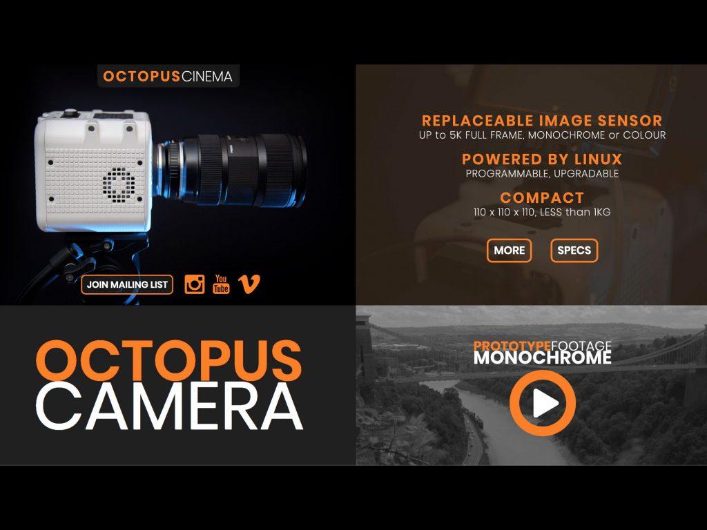 OCTOPUS: Κάμερα με ανάλυση 5K και δυνατότητα αλλαγής του αισθητήρα