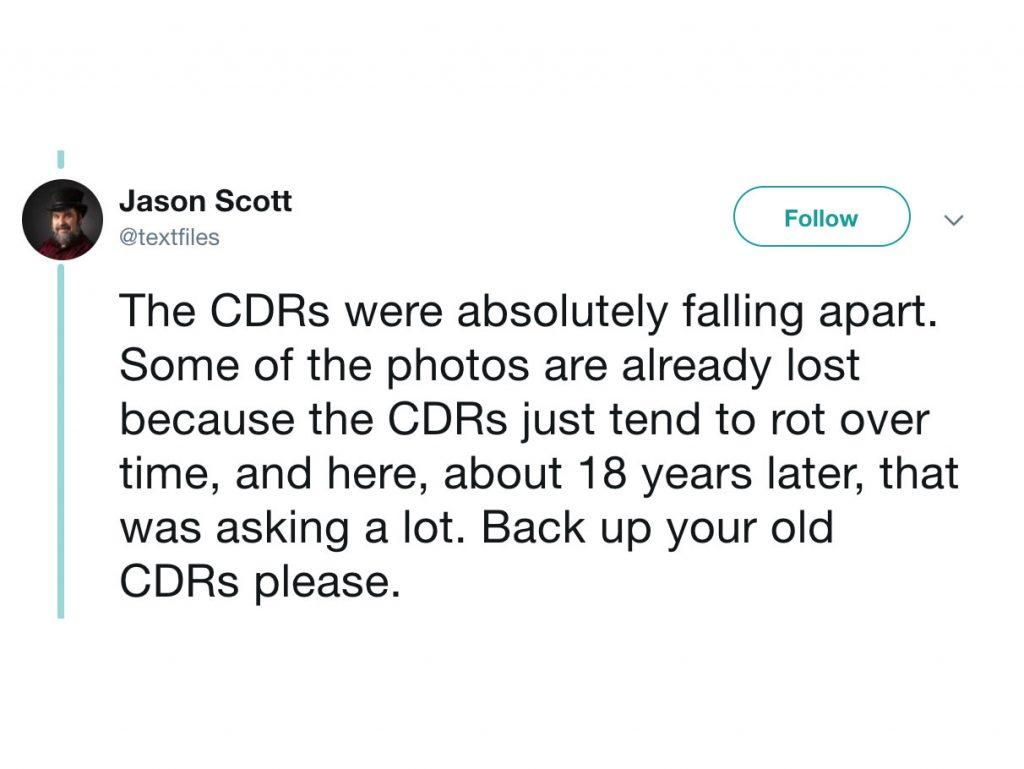 Κάντε άμεσα back up φωτογραφίες και βίντεο που έχετε σε CD/DVD γιατί θα τα χάσετε!