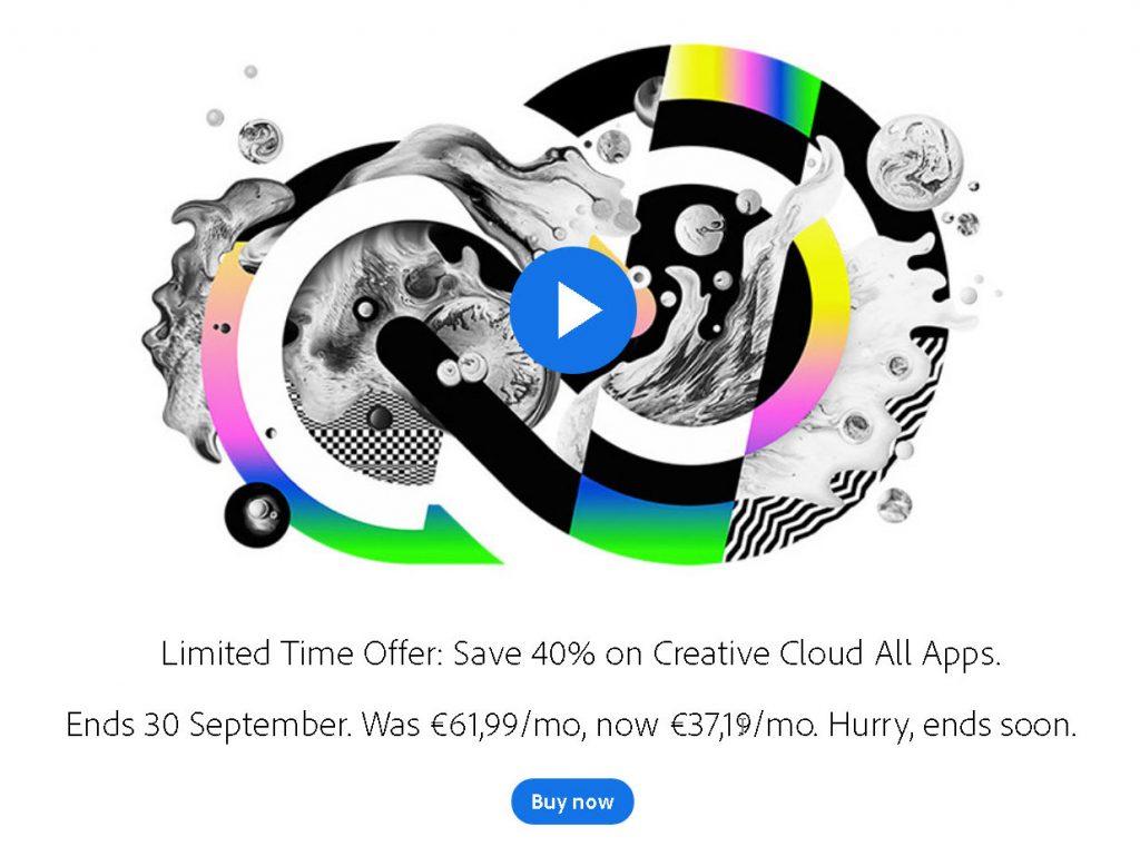 Το Adobe Creative Cloud με έκπτωση 40%, στα 37.19 ή 29.99 ευρώ έχετε όλα τα προγράμματα της Adobe