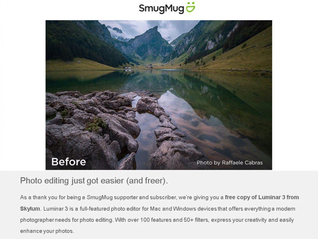 SmugMug: Δίνει δωρεάν το Luminar 3 σε όλους τους συνδρομητές του!