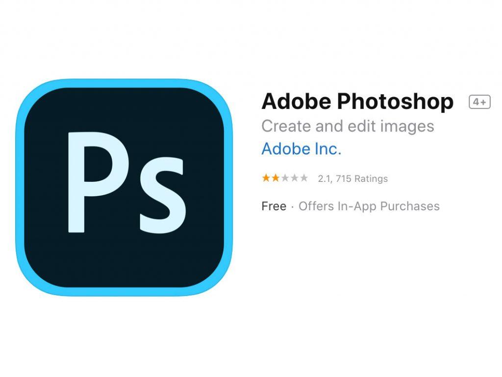 Adobe Photoshop για iPad: Αρνητικές οι εντυπώσεις από τους χρήστες, έχει βαθμολογία μόλις 2.1