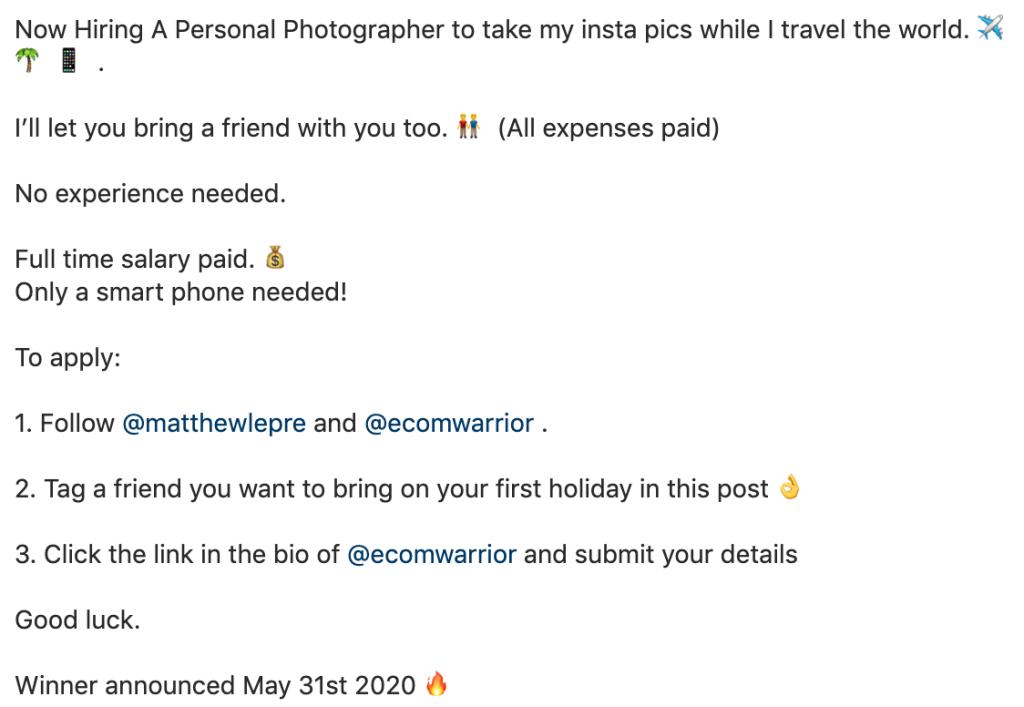 Εκατομμυριούχος ζητάει προσωπικό φωτογράφο, χωρίς εμπειρία, με smartphone και δίνει μισθό 55.000 δολάρια και όχι μόνο