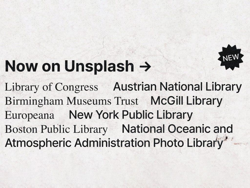 To Unsplash σε συνεργασία με 13 ιδρύματα σε όλο τον κόσμο προσφέρει δωρεάν ιστορικές φωτογραφίες και εικόνες