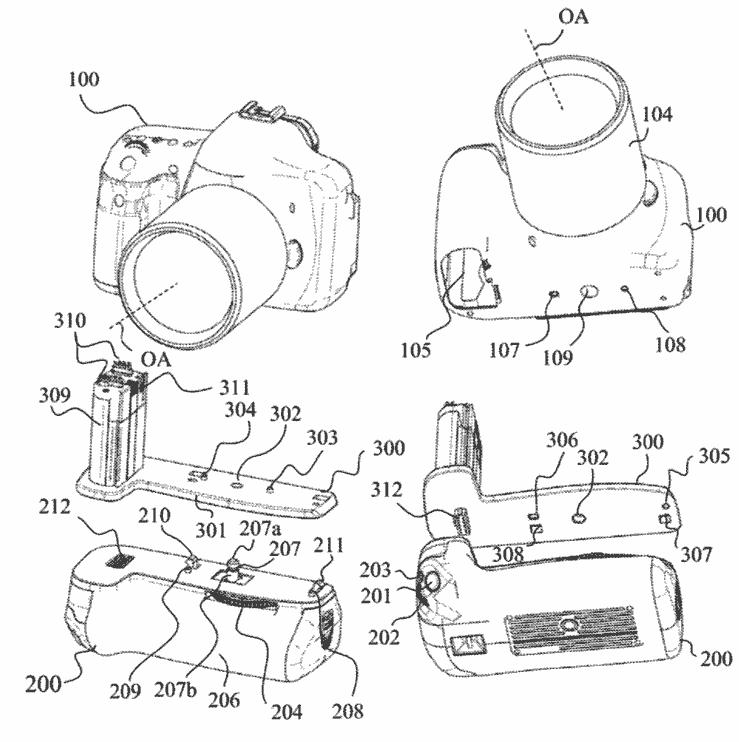Η Canon έχει πατέντα για ένα universal battery grip για τις μηχανές της!