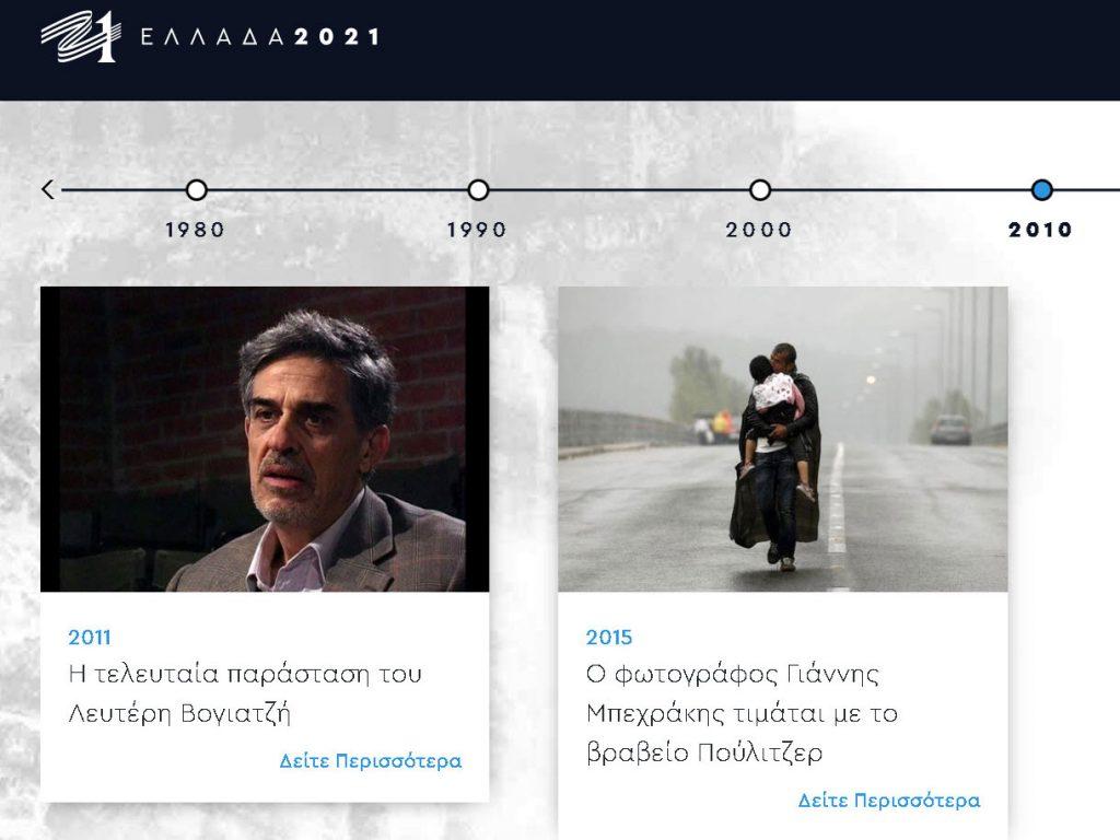 Ελλάδα 2021: Τιμάει τον Γιάννη Μπεχράκη στην Timeline των πιο σημαντικών Ελλήνων