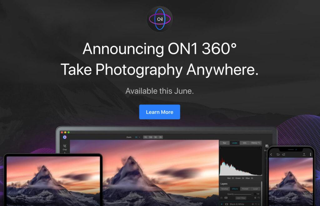 On1 360°: Νέα υπηρεσία cloud για επεξεργασία και πρόσβαση των φωτογραφιών από Η/Υ, tablet και smartphones!