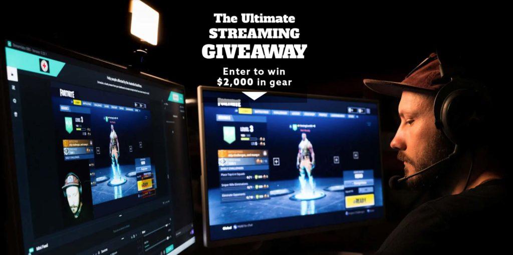 Κέρδισε εξοπλισμό streaming, κάμερα, LED κ.α., αξίας 2000 δολαρίων!