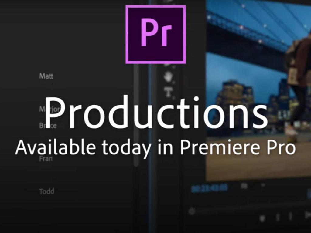 Productions για το Adobe Premiere Pro: Το νέο εργαλείο για ομαδική εργασία!