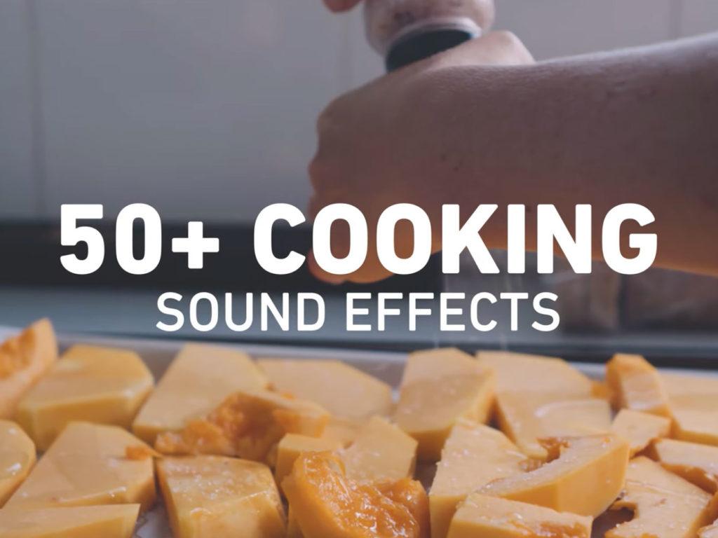 Απέκτησε ΔΩΡΕΑΝ πάνω από 50 ήχους μαγειρέματος για τα βίντεο σου!