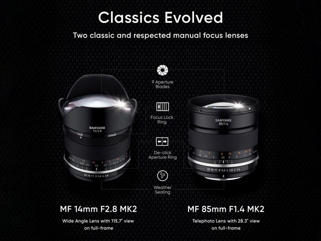 Samyang: Ανακοίνωσε τους νέους Samyang MF 14mm F2.8 MK2 και Samyang MF 85mm F1.4 MK2!