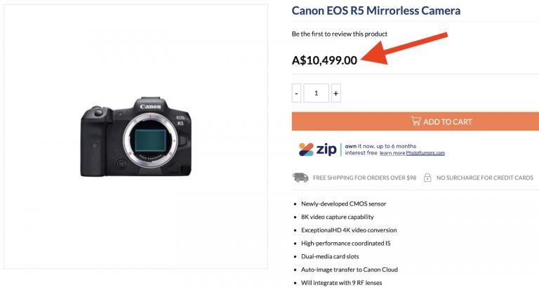 Η Canon EOS R5 θα έχει τιμή πάνω από 6.000 ευρώ;