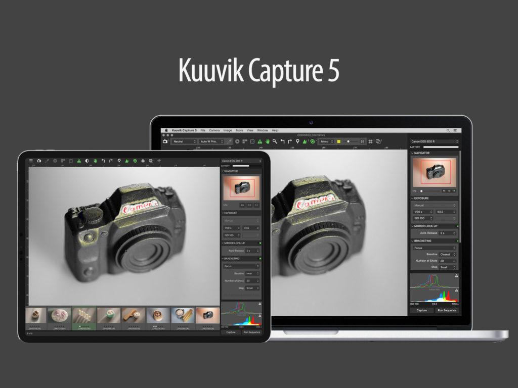 Το Kuuvik Capture 5 επιτρέπει tethering για τις Canon EOS κάμερες με το iPad, μέσω WiFi ή USB καλωδίου!