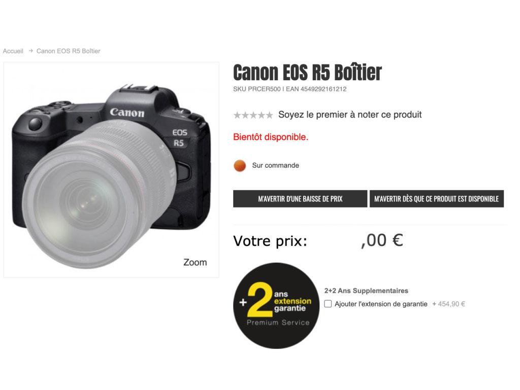 Κατάστημα στο Λουξεμβούργο αποκάλυψε την τιμή της Canon EOS R5;