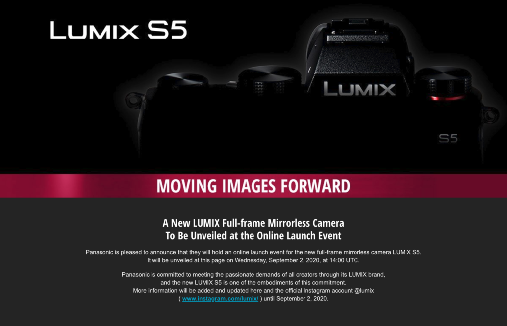 Panasonic Lumix DC-S5: Αυτό είναι το πρώτο teaser post της εταιρείας, ανακοινώνεται στις 2 Σεπτεμβρίου!