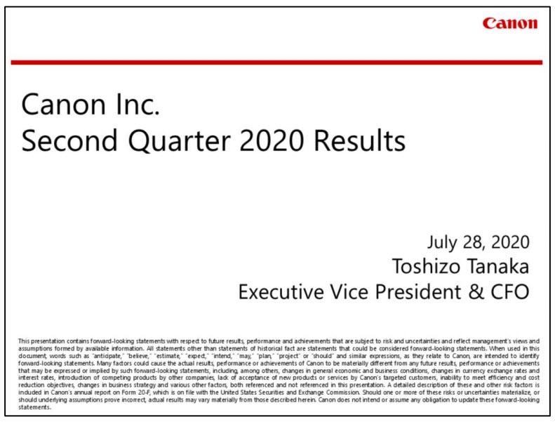 Canon: Τα οικονομικά αποτελέσματα του δεύτερου τριμήνου δείχνουν πτώση κέρδους στο τμήμα Imaging κατά 93.9%!