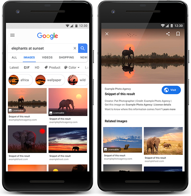 Google Images: Θα υπάρχει ειδικό σήμα για όσες φωτογραφίες μπορούν να αγοραστούν!